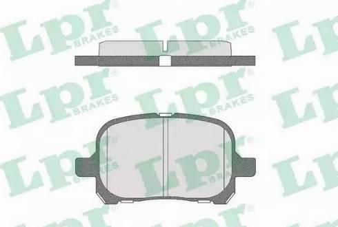 LPR 05P712 - Kit de plaquettes de frein, frein à disque www.widencarpieces.com