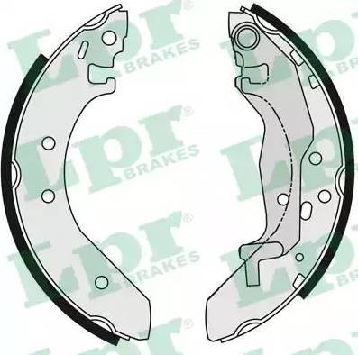 LPR 06040 - Jeu de freins, freins à tambour www.widencarpieces.com