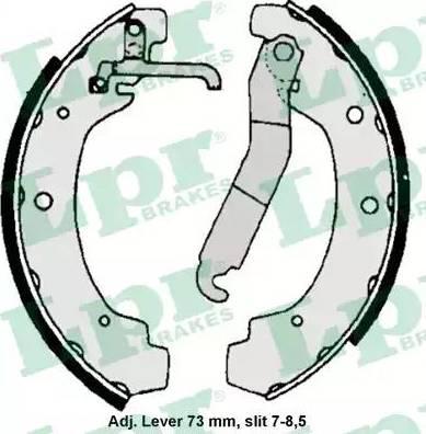LPR 06740 - Jeu de freins, freins à tambour www.widencarpieces.com