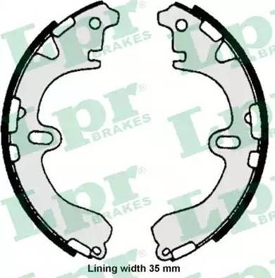 LPR 06720 - Jeu de freins, freins à tambour www.widencarpieces.com