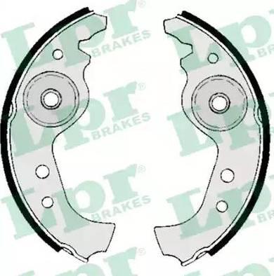 LPR 00890 - Jeu de freins, freins à tambour www.widencarpieces.com