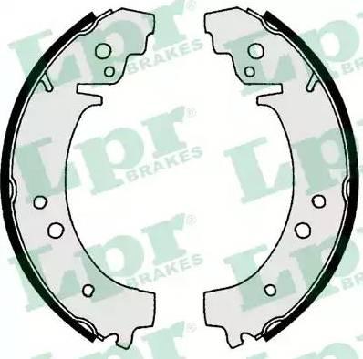 LPR 00730 - Jeu de freins, freins à tambour www.widencarpieces.com