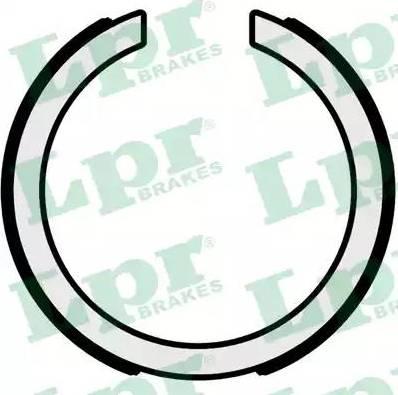 LPR 01095 - Jeu de mâchoires de frein, frein de stationnement www.widencarpieces.com