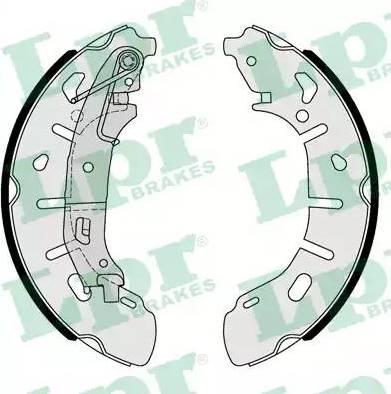 LPR 01101 - Jeu de freins, freins à tambour www.widencarpieces.com