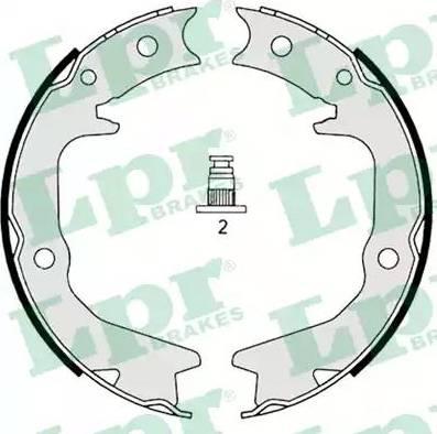 LPR 08920 - Jeu de mâchoires de frein, frein de stationnement www.widencarpieces.com