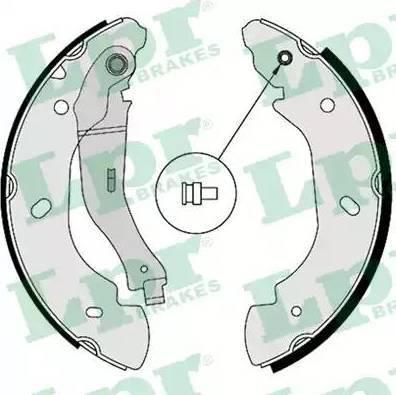 LPR 08580 - Jeu de freins, freins à tambour www.widencarpieces.com