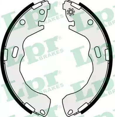 LPR 08030 - Jeu de freins, freins à tambour www.widencarpieces.com