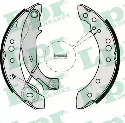 LPR 08150 - Jeu de freins, freins à tambour www.widencarpieces.com