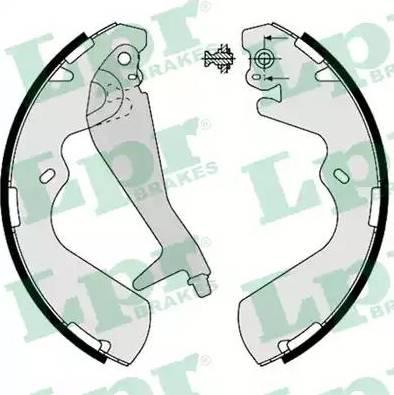 LPR 08240 - Jeu de freins, freins à tambour www.widencarpieces.com