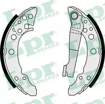 LPR 07940 - Jeu de freins, freins à tambour www.widencarpieces.com
