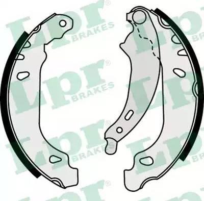 LPR 07490 - Jeu de freins, freins à tambour www.widencarpieces.com