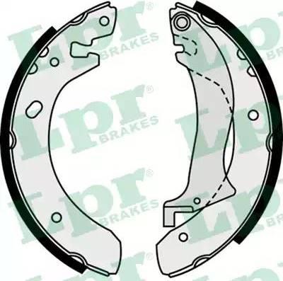 LPR 07510 - Jeu de freins, freins à tambour www.widencarpieces.com