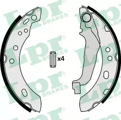 LPR 07090 - Jeu de freins, freins à tambour www.widencarpieces.com