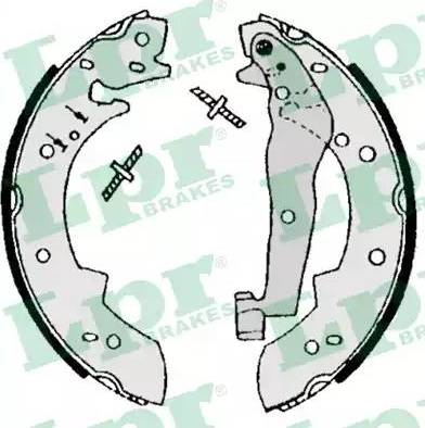 LPR 07050 - Jeu de freins, freins à tambour www.widencarpieces.com