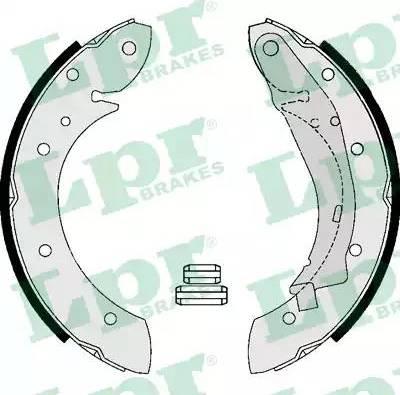 LPR 07165 - Jeu de freins, freins à tambour www.widencarpieces.com