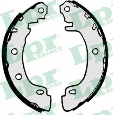 LPR 07170 - Jeu de freins, freins à tambour www.widencarpieces.com