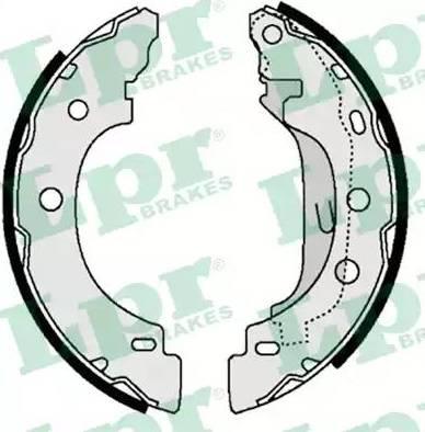 LPR 07330 - Jeu de freins, freins à tambour www.widencarpieces.com