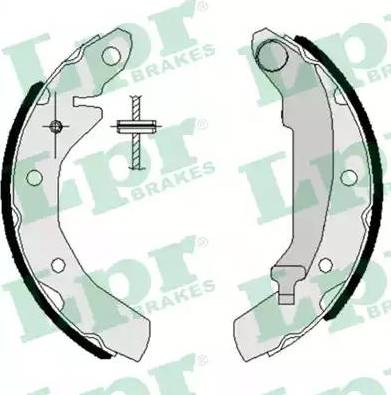 LPR 07260 - Jeu de freins, freins à tambour www.widencarpieces.com