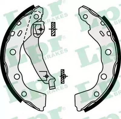 LPR 07740 - Jeu de freins, freins à tambour www.widencarpieces.com