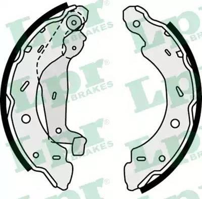 LPR 07750 - Jeu de freins, freins à tambour www.widencarpieces.com