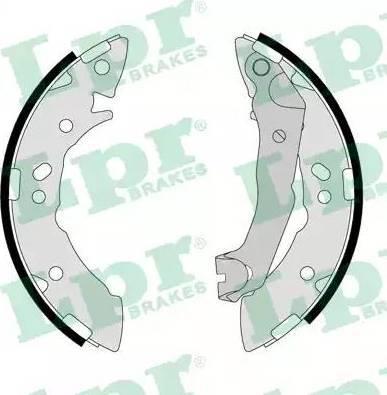 LPR 07710 - Jeu de freins, freins à tambour www.widencarpieces.com