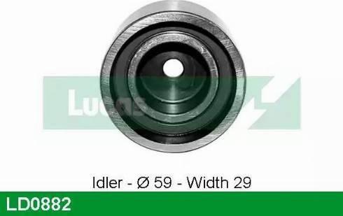 Lucas Engine Drive LD0882 - Poulie-tendeur, courroie crantée www.widencarpieces.com