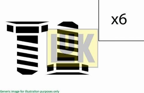 LUK 411000710 - Visserie, volant moteur www.widencarpieces.com