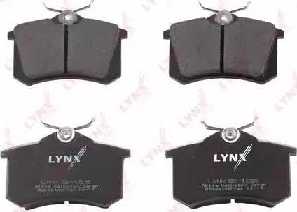 LYNXauto BD-1206 - Kit de plaquettes de frein, frein à disque www.widencarpieces.com