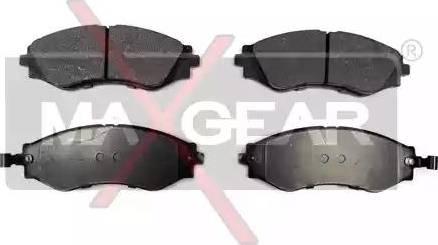 Maxgear 19-0609 - Kit de plaquettes de frein, frein à disque www.widencarpieces.com