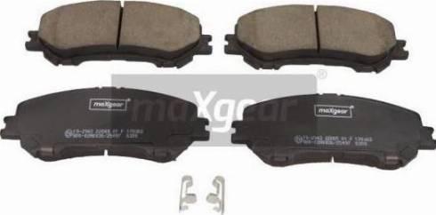 Maxgear 19-2943 - Kit de plaquettes de frein, frein à disque www.widencarpieces.com