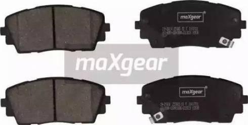 Maxgear 19-2924 - Kit de plaquettes de frein, frein à disque www.widencarpieces.com