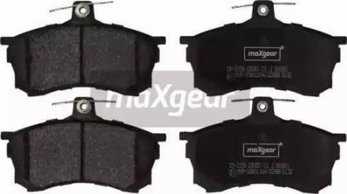 Maxgear 19-2156 - Kit de plaquettes de frein, frein à disque www.widencarpieces.com