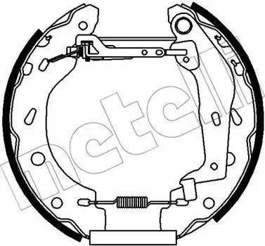 Metelli 51-0438 - Jeu de freins, freins à tambour www.widencarpieces.com