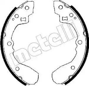 Metelli 53-0201 - Jeu de freins, freins à tambour www.widencarpieces.com