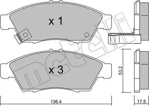 Metelli 22-0437-0 - Kit de plaquettes de frein, frein à disque www.widencarpieces.com