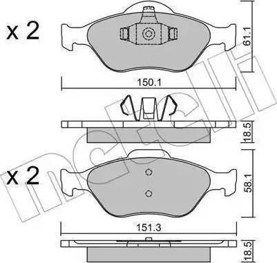 LPR 05P949 - Kit de plaquettes de frein, frein à disque www.widencarpieces.com