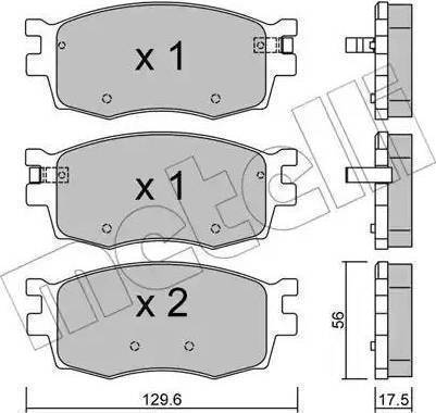 Delphi LP1951 - Kit de plaquettes de frein, frein à disque www.widencarpieces.com