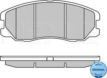 Meyle 025 245 1016/W - Kit de plaquettes de frein, frein à disque www.widencarpieces.com