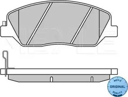 Meyle 025 243 5117/W - Kit de plaquettes de frein, frein à disque www.widencarpieces.com