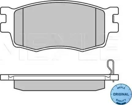 Meyle 025 243 1717/W - Kit de plaquettes de frein, frein à disque www.widencarpieces.com
