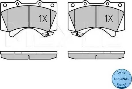 Meyle 025 243 8618/W - Kit de plaquettes de frein, frein à disque www.widencarpieces.com