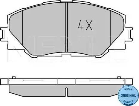 Meyle 025 243 3717 - Kit de plaquettes de frein, frein à disque www.widencarpieces.com