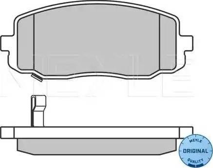 Meyle 025 242 7516/W - Kit de plaquettes de frein, frein à disque www.widencarpieces.com
