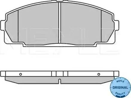 Meyle 025 214 6815 - Kit de plaquettes de frein, frein à disque www.widencarpieces.com