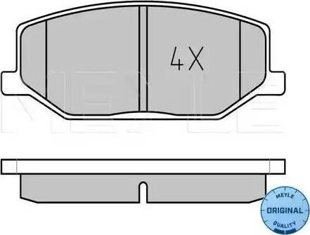 Meyle 025 211 4215 - Kit de plaquettes de frein, frein à disque www.widencarpieces.com