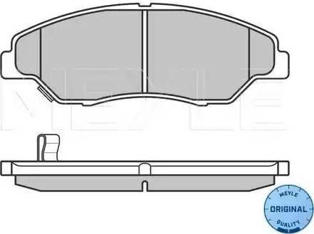 Meyle 025 234 4215/W - Kit de plaquettes de frein, frein à disque www.widencarpieces.com