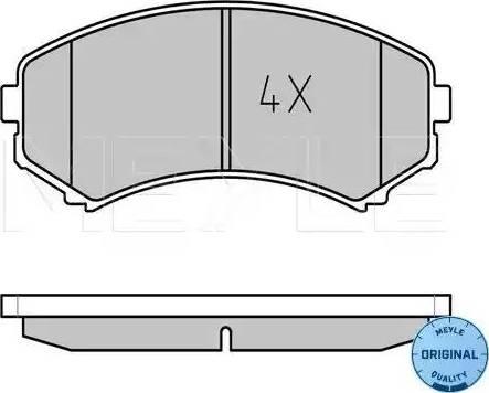 Meyle 025 234 8816/W - Kit de plaquettes de frein, frein à disque www.widencarpieces.com