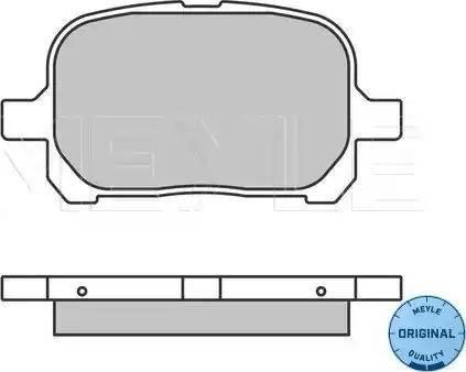 Meyle 025 235 1317 - Kit de plaquettes de frein, frein à disque www.widencarpieces.com