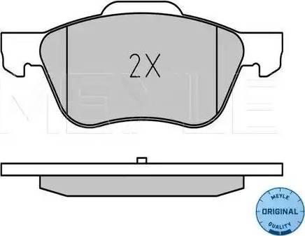 Meyle 025 231 6017 - Kit de plaquettes de frein, frein à disque www.widencarpieces.com