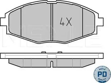Meyle 025 232 4117/PD - Kit de plaquettes de frein, frein à disque www.widencarpieces.com